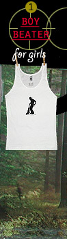 Boy Beater Tank for Girls
